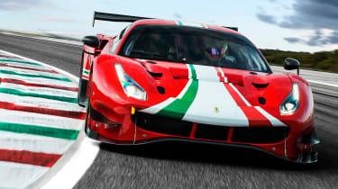 Ferrari 488 GT3 EVO - front cornering