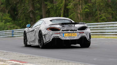 McLaren 600LT spy shots rear end