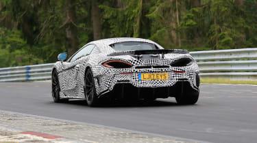 McLaren 600LT spy shots rear end