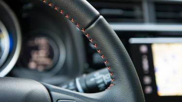 Honda Jazz - steering wheel detail