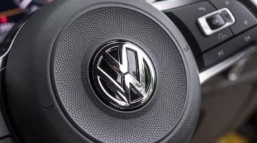 Volkswagen Arteon review - gold steering badge close-up