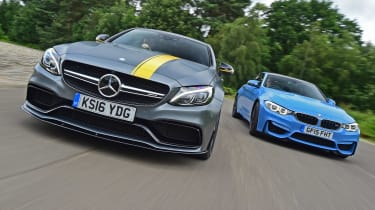 Mercedes-AMG C63 S Coupe vs BMW M4 - header