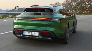 Porsche Taycan Cross Turismo - rear cornering