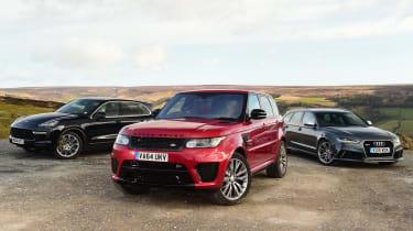 Range Rover Sport SVR vs rivals
