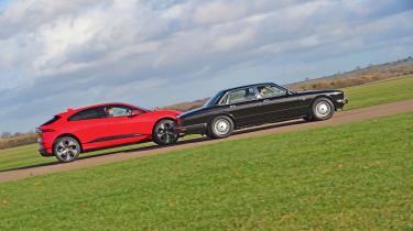 Jaguar XJ40 vs Jaguar I-Pace - side