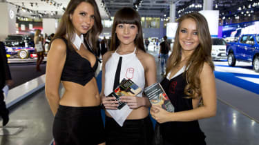 Girls of the Moscow Motor Show