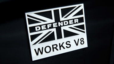 Land Rover Defender Works V8 - badge