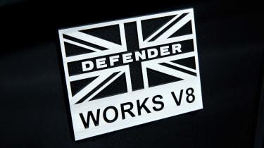 Land Rover Defender Works V8 - badge