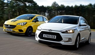 Hyundai i20 Coupe vs Vauxhall Corsa - head-to-head
