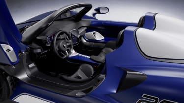 McLaren Elva windscreen variant - interior