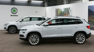 Skoda Karoq live tour two SUVs
