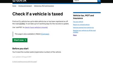 Tax checking - webpage
