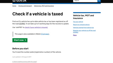 Tax checking - webpage