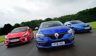 Renault Megane GT vs Kia Cee'd GT vs Skoda Octavia vRS - header