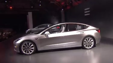 Tesla Model 3 reveal - side