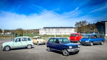 Renault 4, 4cv, 5, Estafette and mk1 Espace
