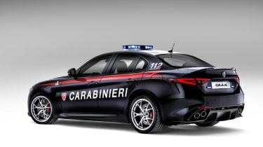 Alfa Romeo Giulia - Police car rear three quarter