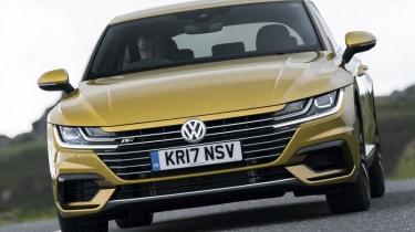 Volkswagen Arteon review - gold head-on