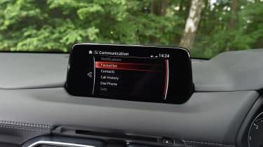 Mazda CX-5 vs Skoda Kodiaq vs VW Tiguan - Mazda CX-5 sat nav
