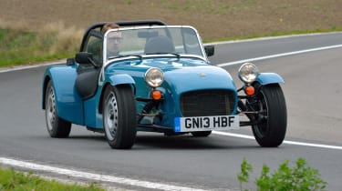Caterham Seven 160 front action