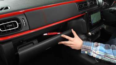 Citroen C3 long term test first report - glovebox detail