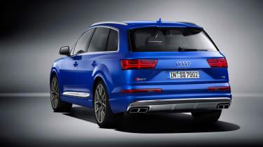 Audi SQ7 blue - rear quarter 3