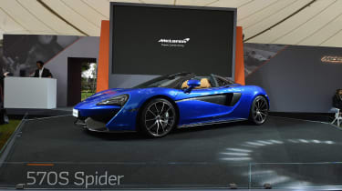 The new McLaren 570S Spider is already available to order, costing from £164,750.
