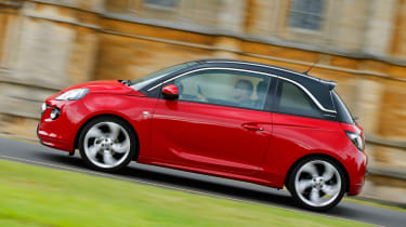 The Vauxhall Adam's styling however does not translate to an involving drive. The light steering does provide sharp turn-in through the corners, but the harsh ride does not suit UK roads.