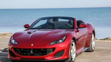 Ferrari Portofino - front static roof open
