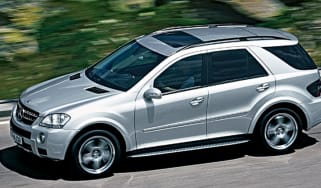 Side view of Mercedes ML63 AMG
