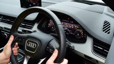 Audi SQ7 long-term second report - steering wheel