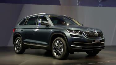 Skoda Kodiaq - reveal event grey show car