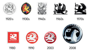 Vauxhall badges through the decades