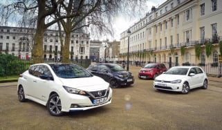 Nissan Leaf vs BMW i3 vs VW e-Golf vs Renault ZOE - header