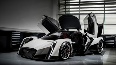 Vanda Dendrobium electric hypercar - doors open