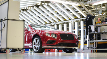 State-of-the-art facilities are all over the Crewe factory to ensure Bentley's reputation for high-quality cars is maintained.