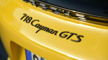 New Porsche Cayman GTS review - badge