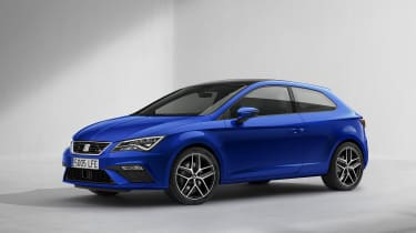 New SEAT Leon 2017 facelift blue