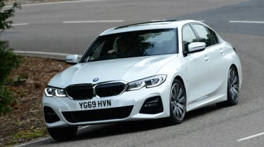 BMW 330e - front cornering
