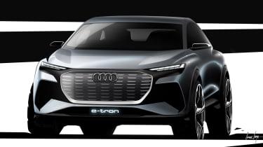 Audi Q4 e-tron concept - front sketch