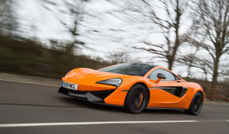 McLaren 570S first UK drive - front tracking