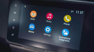 Dacia Duster 2021 facelift - screen