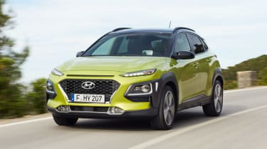 Hyundai Kona - green front
