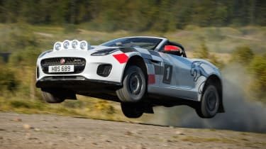 Jaguar F-Type rally car - jump