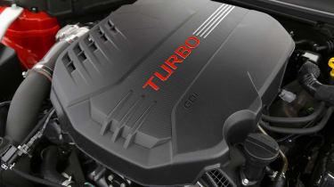 Kia Stinger - engine detail