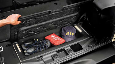Jeep Wrangler storage
