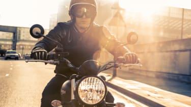 Triumph Street Scrambler review - front headlamp
