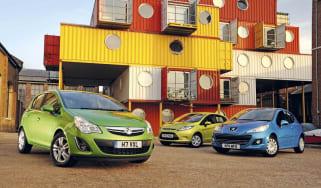 Vauxhall Corsa ecoFLEX vs rivals