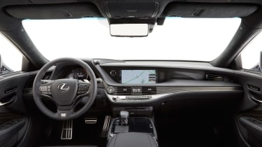 Lexus LS F dashboard
