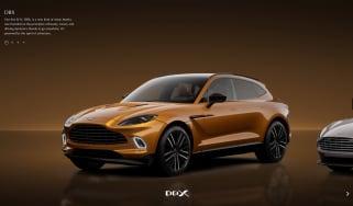 Aston Martin online configurator 1